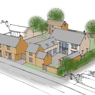 East Haddon sketch
