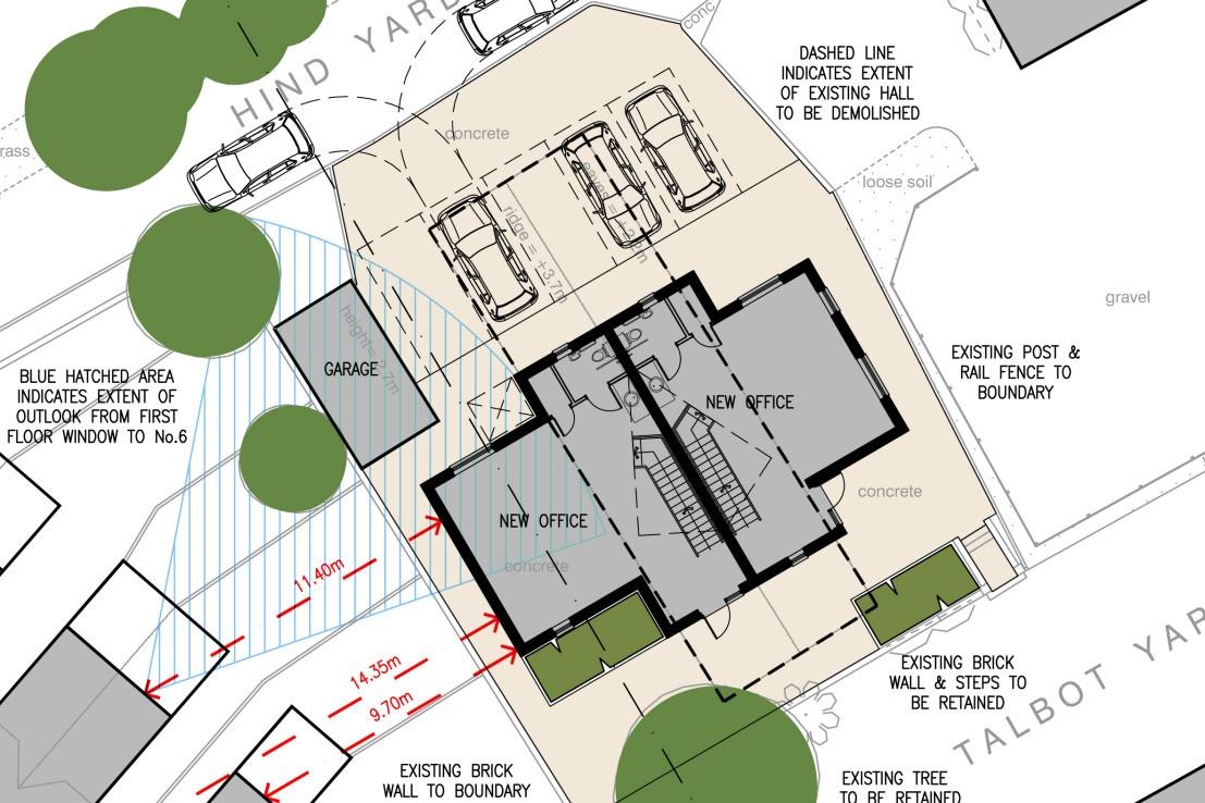 Hind Yard layout